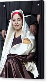 Virgin Mary And Baby Jesus At 4th Annual Christmas March Acrylic Print by Munir Alawi
