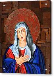 Virgin Mary Acrylic Print by Claudia French