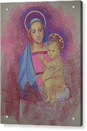 Virgin Mary With Baby Jesus Acrylic Print