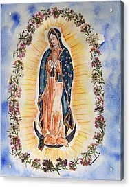 Virgin Of Guadalupe Acrylic Print by Regina Ammerman