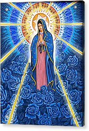 Virgin Of The Blue Roses Acrylic Print