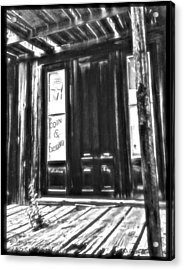 Virginia City Ghost Town Door II Acrylic Print by Susan Kinney
