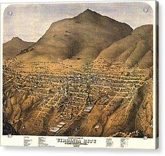 Virginia City Nevada 1875 Acrylic Print by Donna Leach