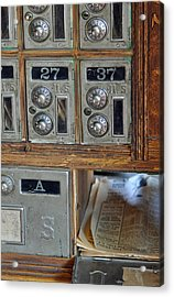 Virginia City Post Office Box Acrylic Print by Bruce Gourley