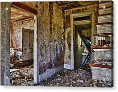 Virginia Interior Ruins Acrylic Print by Greg Molesworth