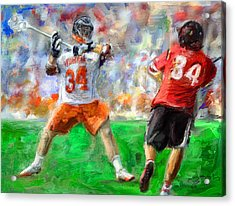 College Lacrosse 10 Acrylic Print by Scott Melby