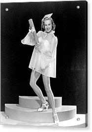 Virginia Mayo, Ca. Late 1940s Acrylic Print by Everett