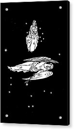 Virgo And Coma Constellations, Artwork Acrylic Print by