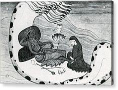 Vishnu And Lakshmi Acrylic Print by Photo Researchers
