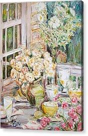 Visit 1 Acrylic Print by Becky Kim