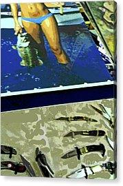 Visit Texas Acrylic Print by Joe Jake Pratt
