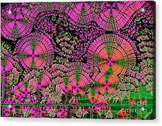 Vitamin C Crystals Spikeberg Acrylic Print by M I Walker