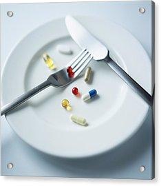 Vitamin Pills Acrylic Print by Cristina Pedrazzini