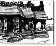 Vittala Temple Hampi Acrylic Print by Shashi Kumar