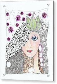 Vivian Acrylic Print by Paula Dickerhoff