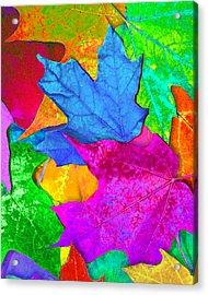 Vivid Leaves 2 Acrylic Print by Ginny Gaura
