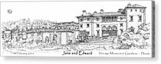 Vizcaya For Jane And Edward Acrylic Print by Building  Art