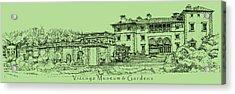 Vizcaya In Olive Green  Acrylic Print