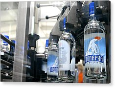 Vodka Bottling Machine Acrylic Print by Ria Novosti