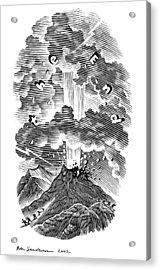 Volcanic Eruption, Artwork Acrylic Print by Bill Sanderson