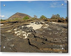 Volcanic Landscape At Punta Vincente Roca Acrylic Print by Sami Sarkis