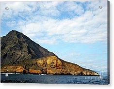 Volcanic Landscape By Coastline Acrylic Print by Sami Sarkis