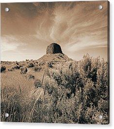 Volcanic Peak, Central Oregon, Usa Acrylic Print by Mel Curtis