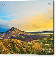Volcano Batur Acrylic Print by MotHaiBaPhoto Prints