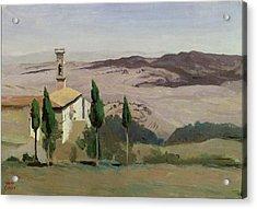Volterra Acrylic Print by Jean Baptiste Camille Corot