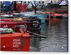 Volvo Ocean Race 2011-2012 Acrylic Print by Peter Skelton