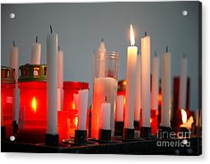 Votive Candles Acrylic Print by Gaspar Avila