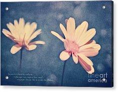 Voyager De Par Les Aromes Des Fleurs Acrylic Print by Aimelle