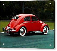 Vw Bug Oil Painting Acrylic Print