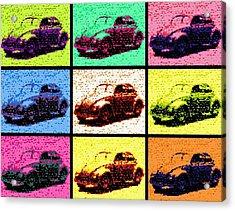 Vw Bug Pop Art Acrylic Print