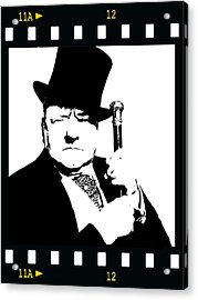 Acrylic Print featuring the painting W. C. Fields by Jann Paxton