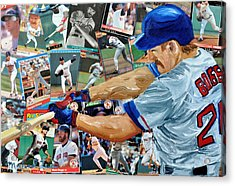 Wade Boggs Acrylic Print by Michael Lee