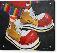 Waffle's Shoes Acrylic Print by Betty-Anne McDonald