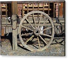 Wagon Wheel Acrylic Print by Charles Robinson
