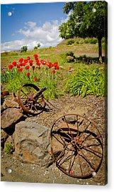 Wagon Wheels Acrylic Print by Jen TenBarge