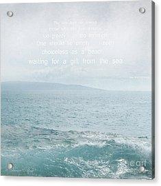 Waiola Water Of Life Acrylic Print by Sharon Mau