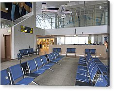 Waiting Area At An Airport Gate Acrylic Print by Jaak Nilson