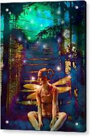 Acrylic Print featuring the photograph Waiting At The Gates Of Dawn by Nada Meeks