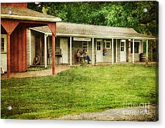 Waiting By The General Store Acrylic Print by Paul Ward