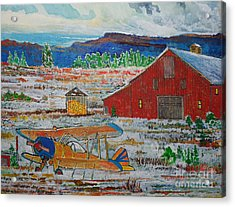 Waiting For Better Weather Acrylic Print by Donald McGibbon