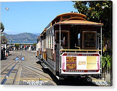 Waiting For The Cablecar At Fishermans Wharf . San Francisco California . 7d14099 Acrylic Print by Wingsdomain Art and Photography