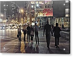 Waiting For The Green Light  Acrylic Print by Alex AG
