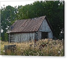 Waiting For The Harvest Acrylic Print by Jerry Hellinga