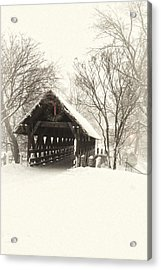 Waiting For The Sleigh Acrylic Print by Andrew Soundarajan