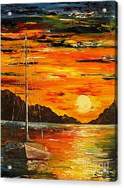 Waiting For The Sunrise Acrylic Print by AmaS Art