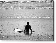 Waiting For The Wave Acrylic Print by Zarija Pavikevik